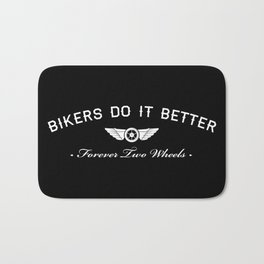 BIKERS DO IT BETTER FOREVER WHEEL AND WINGS Bath Mat