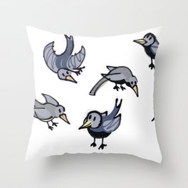 Lots of Mrs Magpies Throw Pillow