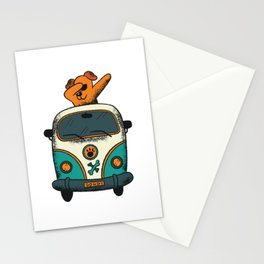 DABBING DOG VAN Stationery Cards