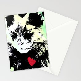 Key lime kitty Stationery Cards