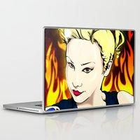 rockabilly Laptop & iPad Skins featuring Rockabilly Lass by Michael Duggan