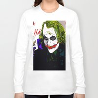 the joker Long Sleeve T-shirts featuring joker by Saundra Myles