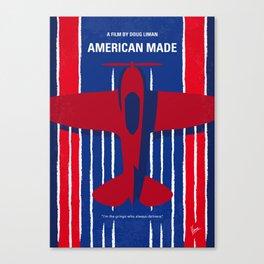 No869 My American Made minimal movie poster Canvas Print