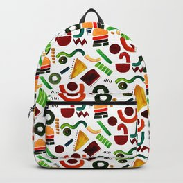 Shapes abstract pattern Backpack