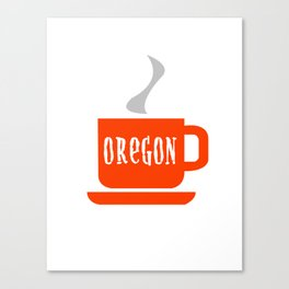 Oregon Coffee Canvas Print