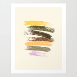 Trees and marshmallow Art Print