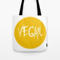 vegan Tote Bags featuring Vegan. by Love Libby X