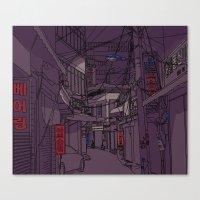 seoul Canvas Prints featuring Seoul  by Confetti Guillemetti