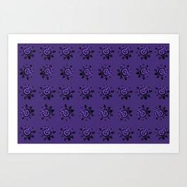passion flower in violet Art Print