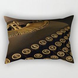 Remington retro vintage typewriter Rectangular Pillow