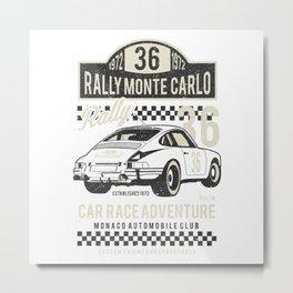 Rally Monte Carlo Metal Print
