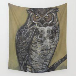Great Horned Owl Wall Tapestry