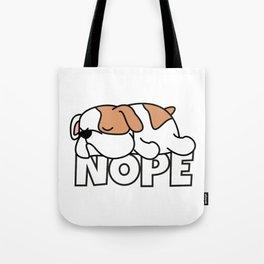 Nope Bulldog Tote Bag