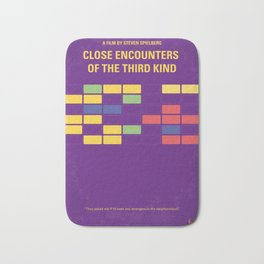 No353 My ENCOUNTERS OF THE THIRD KIND minimal movie poster Bath Mat