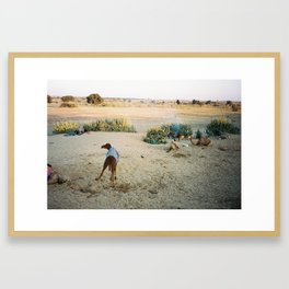 Thar desert camp Framed Art Print