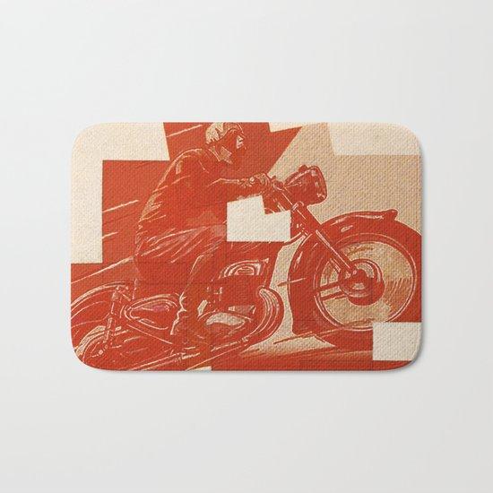 Motorcycle Race II Bath Mat