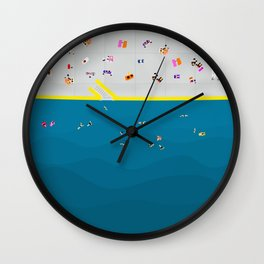 Clovelly Beach Sydney | Aerial Illustration Wall Clock