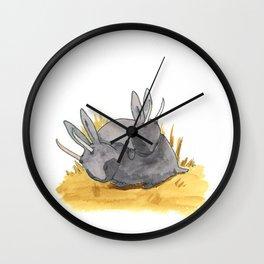 Pygmy Jackalope Mates Wall Clock