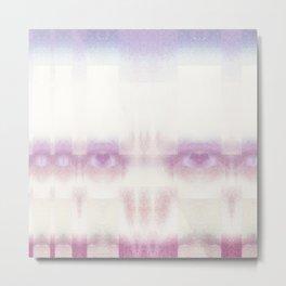 Candy Floss Scull- GLITCH Metal Print