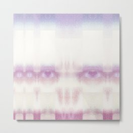 Candy Floss Scull- GLITCH Metal Print
