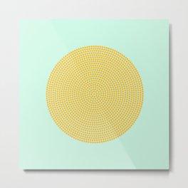 Polka Dot yellow mustard Metal Print