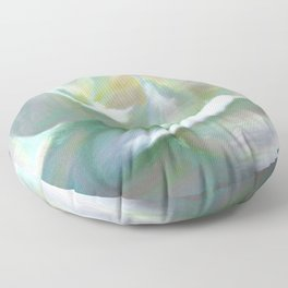 Painterly Iridescent Rose Floor Pillow