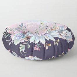 Succulent full moon Floor Pillow