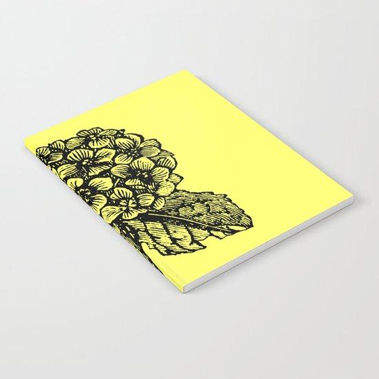Yellow Hydrangea Notebook