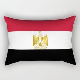 flag of egypt- Egyptian,nile,pyramid,pharaon,cleopatra,moses,cairo,alexandria. Rectangular Pillow