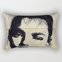 Can be - Portrait over vintage book's pages Rectangular Pillow