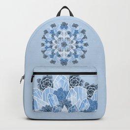 Crystals Succulents Mandala BLUE Backpack