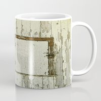 cabin Mugs featuring Yellow Cabin by Nancy Smith