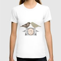 shabby chic T-shirts featuring Lovely Vintage French Bird Shabby Chic by Boz Chiara Artist