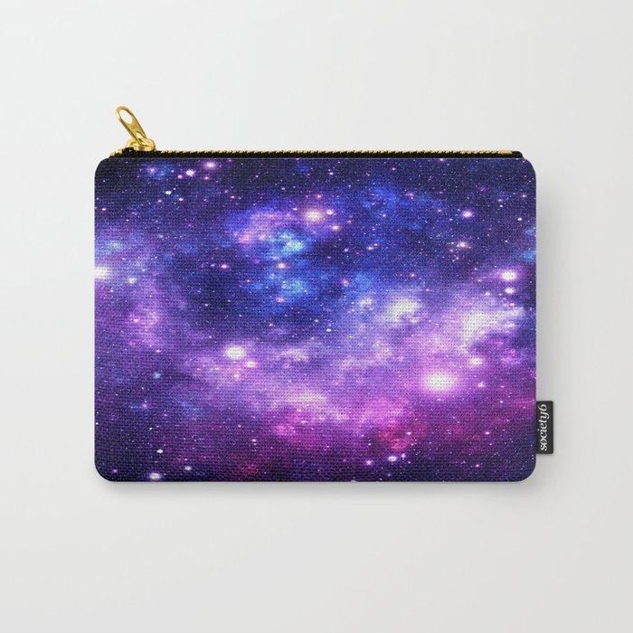 Purple Blue Galaxy Nebula Carry-All Pouch