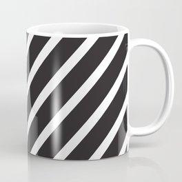 Black diagonal lines pattern Coffee Mug