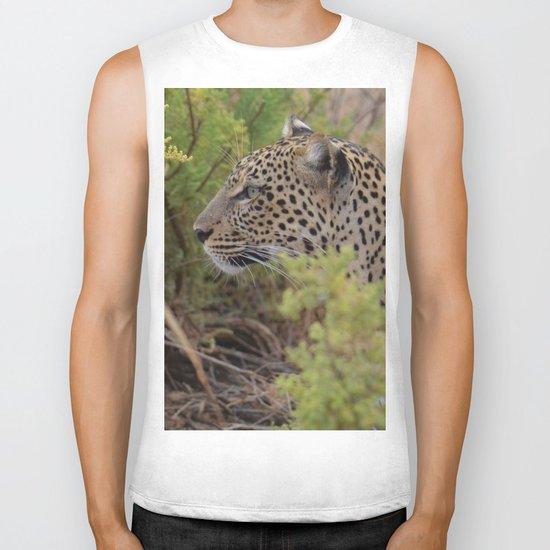 Leopard in the Wild Biker Tank