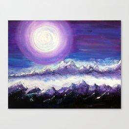 Moon Stand Still In Valley of Aijalon Canvas Print