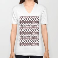 ikat V-neck T-shirts featuring Soul Ikat by Melodie Ray Designs