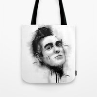 the smiths Tote Bags featuring Smiths  by Mr Skillmatik