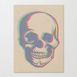Skull - Woodprint Color Canvas Print