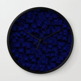 Dark Blue Square Optical Illusion Wall Clock