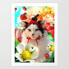 Strawberry Shortfluff Art Print
