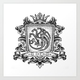 Fire And Blood Art Print