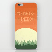 moonrise kingdom iPhone & iPod Skins featuring Moonrise Kingdom by Courtney Vlaming