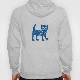 Navy blue cat pattern Hoody