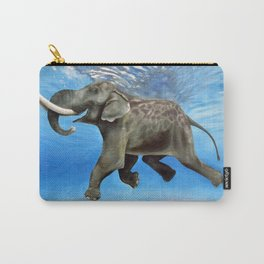 Rajan The Swimming Elephant Carry-All Pouch