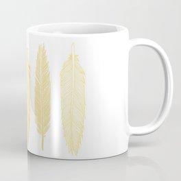 5 Grey & Gold Feathers Coffee Mug