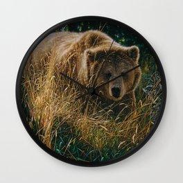 Brown Bear - Crossing Paths Wall Clock