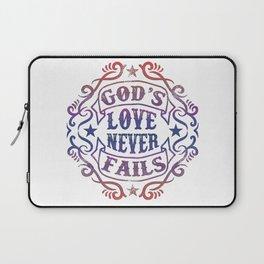 God's Love Never Fails Laptop Sleeve