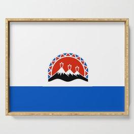flag of Kamchatka Serving Tray